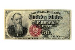 50 Cents Fractional Currency Fourth Issue FR 1376