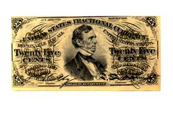 25 Cent Third Issue Fractional  Note Nearly Uncirculated