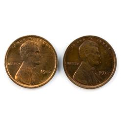 1916 And 1917 Gem Red BU Lincoln Cents