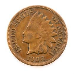 1908 S Semi Key Indian Head Cent