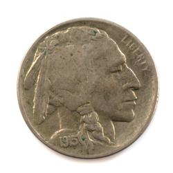 Dirty Raw  Near Unc / Unc 1915 D Full Horn Buffalo Nickel