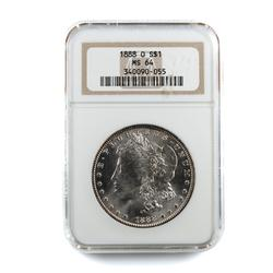1888  O MS 64 NGC Holdered Frosty White Morgan
