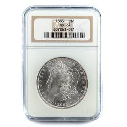 1883 BU MS 64 Morgan Dollar in an NGC Holder