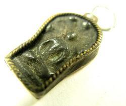 Antique Cambodian Naga Buddha Amulet Pendant 19th Cent