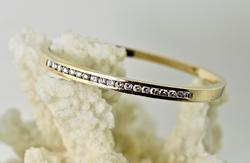 One Carat Total Weight 14K Diamond Bangle