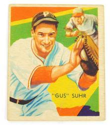 Rare 1935 Gus Suhr, Diamond Stars Baseball Card