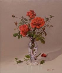 Roses for My Love Stunning Realist Painting