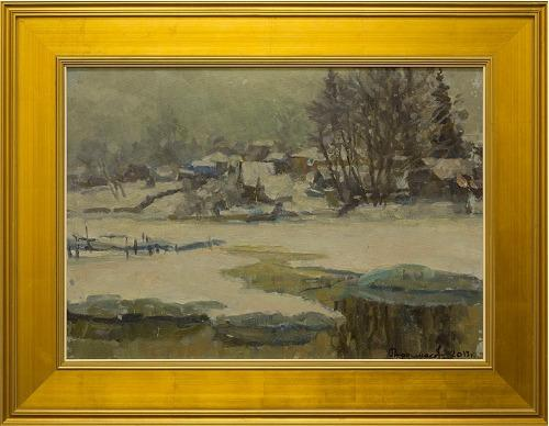 Winter Russian Landscape by Ardimasov