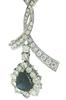 Must Have 2.25ct Pear Sapphire w Diamond Necklace