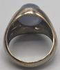 Fancy 14kt Gold Star Sapphire & Diamond Men's Ring