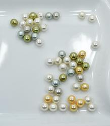 Multi Color Shell Pearl, 49 Count 8mm Round Beads