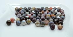Botswana Agate Gemstone 80 Count 10mm Round Beads