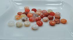 Botswana Agate Gemstone 31 Count 12mm Puffed Disk Beads