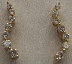 14kt Gold Diamond Journey Earrings
