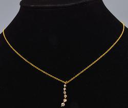14kt Gold Diamond Journey Pendant Necklace