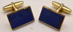 14KT Yellow Gold Lapis Lazuli Cufflinks
