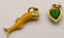 Two 18kt Gold Pendants