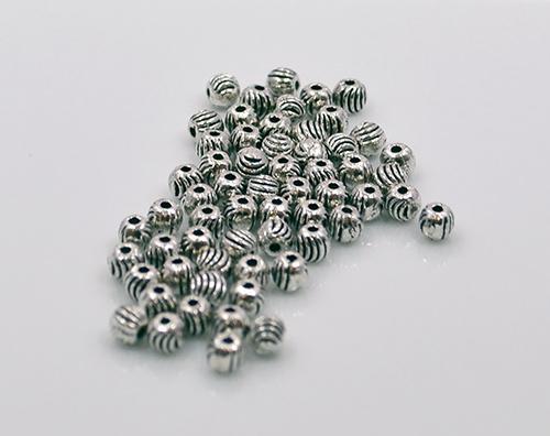 Round Pewter Beads, 360 Count (30 Dozens) 4 x 4mm