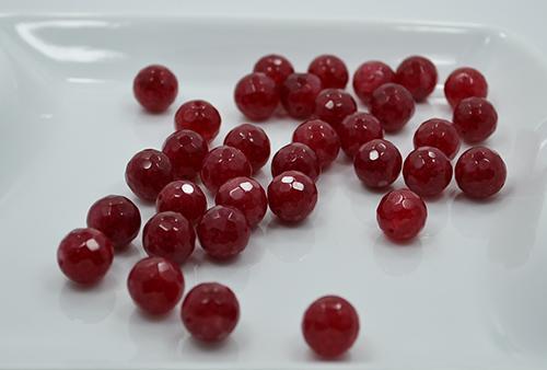 Rhodolite Garnet Stone 34 Ct 12mm Faceted Round Beads