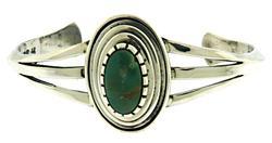 Vintage Fred Harvey Era Green Turquoise Bangle