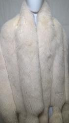 Wide Fox Fur Wrap
