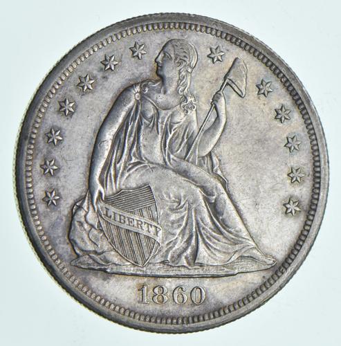 1860-O Seated Liberty Silver Dollar