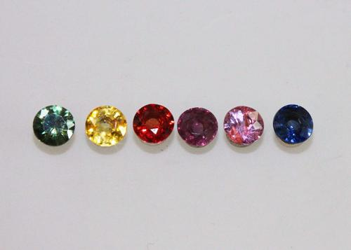 Bold Colors in the Natural Sapphire Set of 6