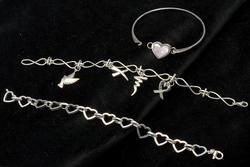 Lot of 3 Sterling Silver Bracelets