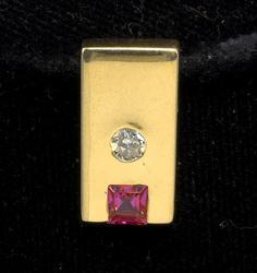14KT Diamond & Ruby Slide