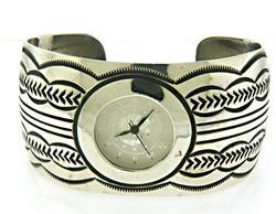 Sterling Silver Carson Hand Made Cuff Wristwatch