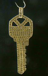 Gorgeous Yellow Diamond Key Pendant