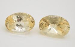Set of Two Natural Citrine Gemstones