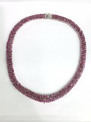 Beautiful 40 Carat Ruby Necklace