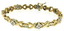 Popular RBC & PC Diamond X Style Bracelet