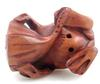 Hand Carved Boxwood Frog Miniature Sculpture