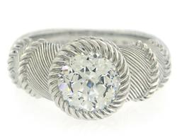 Sterling Silver Judith Ripka Bezel CZ Ring