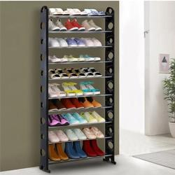 Portable 10 Tier Standing Shoe Rack Organizer Tower
