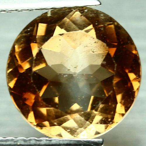 Fiery 4.65ct heavy flashing Topaz solitaire