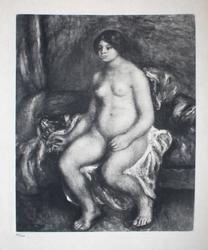 PIERRE-AUGUSTE RENOIR (AFTER) FEMME NUE ASSISE 1919