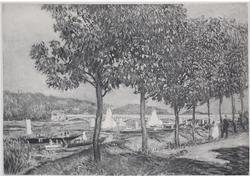 PIERRE-AUGUSTE RENOIR. (AFTER) THE BRIDGE AT ARGENTEUIL IN AUTUMN