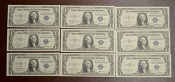 9 X 1935 F  $1 S.C. CONSECUTIVE NOTES FR#1615  CU GEMS