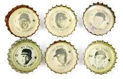 6 Vintage 1967 Coke Baseball Bottle Caps