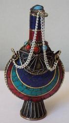Extraordinary Tibetan Gemstone Snuff Bottle - Medicinal