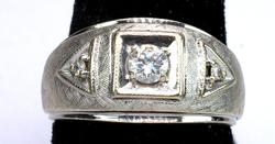 Nice 0.25CTW Textured Diamond & Gold Ring