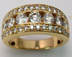 Breathtaking 1.45CTW Diamond Band in Gold