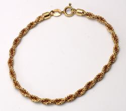 Heavy Rope Chain Bracelet in Gold