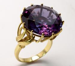 Massive Color-Change Sapphire in 18KT Gold
