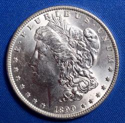 BU 1890 Morgan Silver Dollar