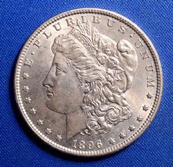 1896 BU Morgan Dollar