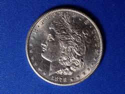 1878-S Slider Unc Morgan Silver Dollar